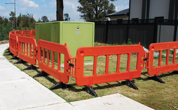 Pedestrian Barrier - WorkZone Barricade