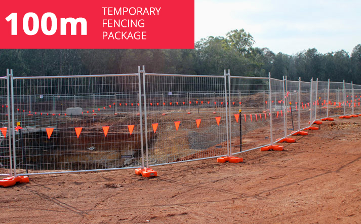 100m Temporary Fencing