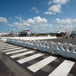Water filled barriers for Gold Coast airport