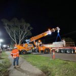 Concrete road barriers for Victorian rail project