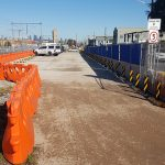 Create Work Site Parking Areas with Plastic Water Filled Barriers
