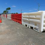 A water fillable barrier that is great for rental companies